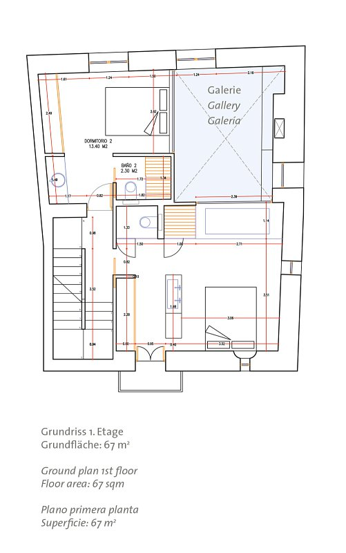Ground plan 1st floor - Old Town House